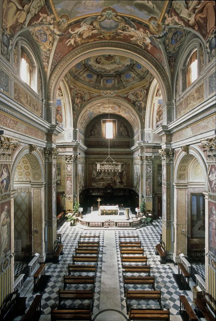 2007.31.V.Interno di San Girolamo  dei Croati dall'alto dell'organo.FOTO.ARNALDO.VESCOVO. - maggio 2007
